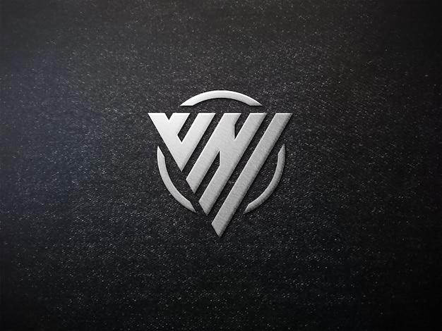 Mockup-logo auf strukturiertem stoff