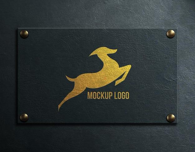Mockup logo luxus an bord