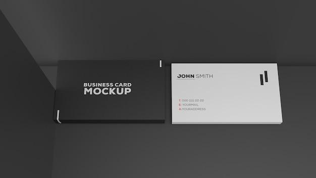 Mockup mit zwei visitenkarten aus papier