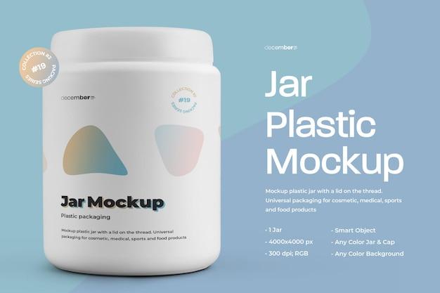 Mockup plastic fat jar design