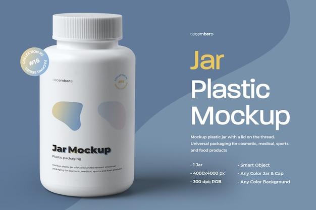 Mockup plastic jar design