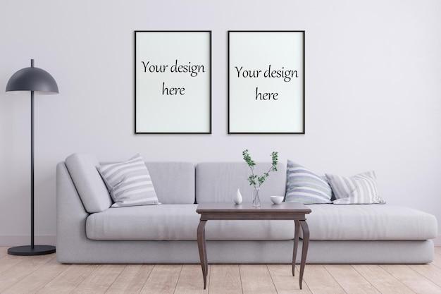 Mockup posterrahmen im stil interieur