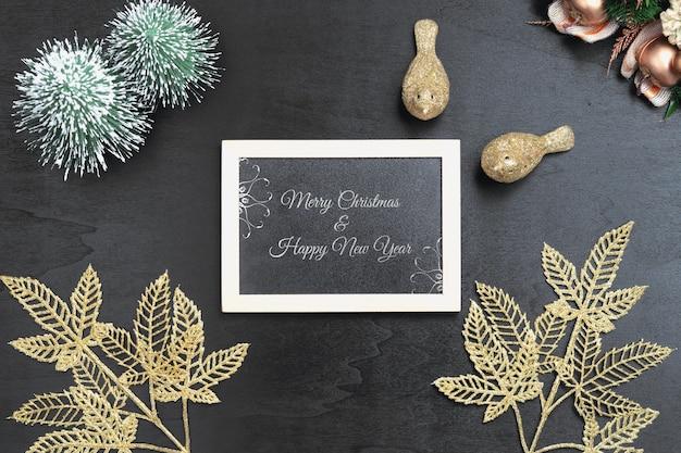 Mockup-tafel für weihnachten und neujahr