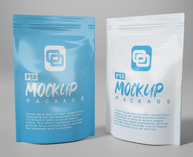 Mockup-verpackungs-kunststoffbeutel