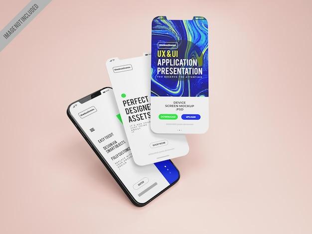 Mockup-vorlage für mobile anwendungen