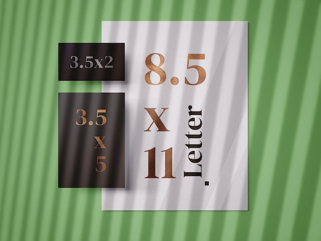 Mockup-vorlage für papierdruckpapier drucken