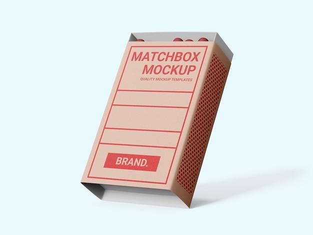 Mockup-vorlage für streichholzschachteln