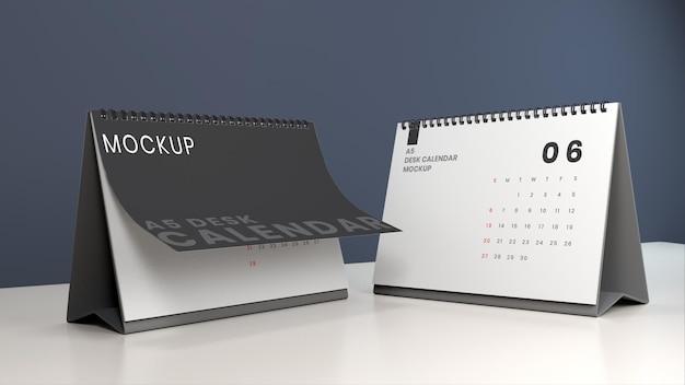 Mockup-vorlage für tischkalender im querformat