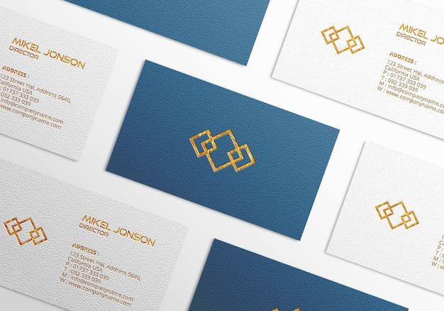 Mockup-vorlage für visitenkarten mit mehreren stilen