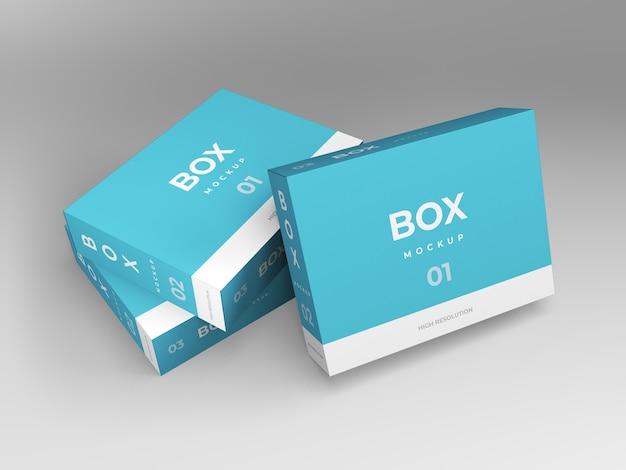 Mockup-vorlagenentwurf der verpackungsbox