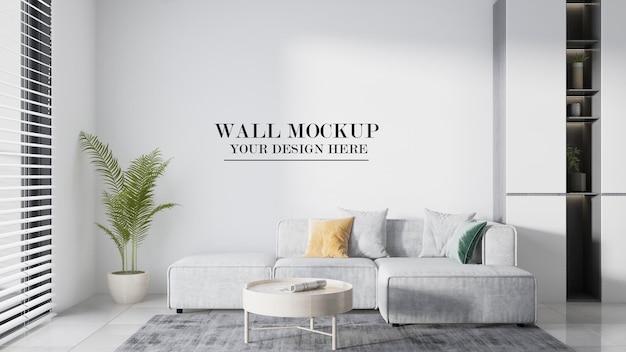 Mockup-wand für ihre designmaterialien