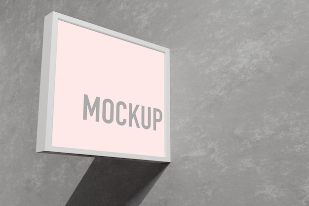 Mockup-zeichen außerhalb eines geschäfts
