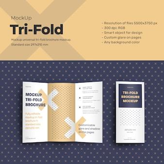 Mockups leafleat dl trifold broschüre