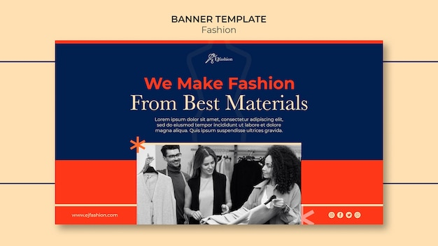 Mode banner vorlage mit foto