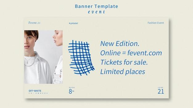 Mode event banner vorlage