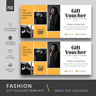 Mode geschenkgutschein