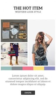 Mode insta geschichte vorlage