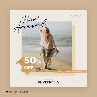 Mode instagram post banner