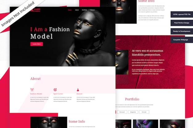 Mode-modell-website-vorlage