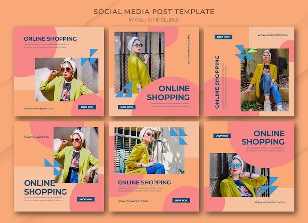 Mode online-shopping instagram post bundle vorlage