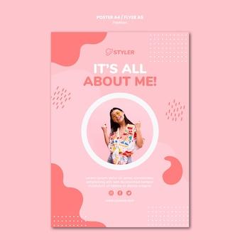 Mode-plakatvorlage