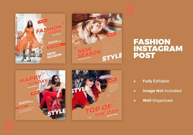 Mode social media banner und instagram post vorlage