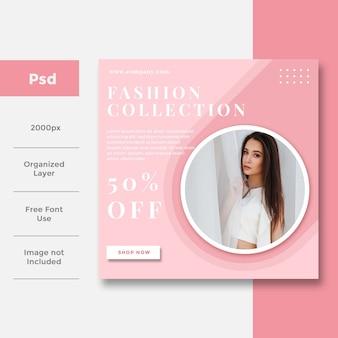 Mode social media bannerwerbung design