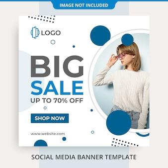 Mode social media instagram feed banner post vorlage