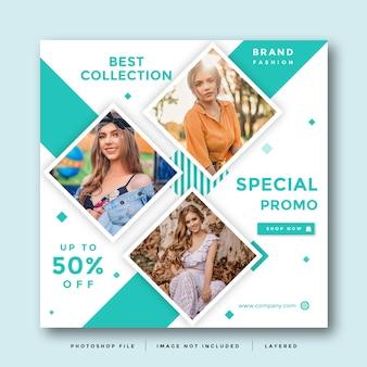 Mode social media promotion layout