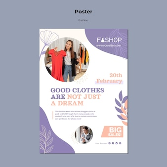 Mode super sale poster vorlage