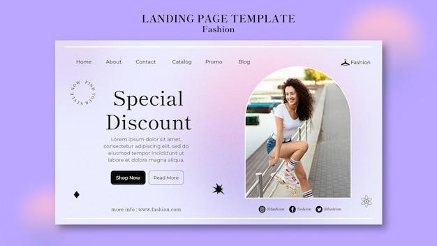 Mode- und style-landingpage