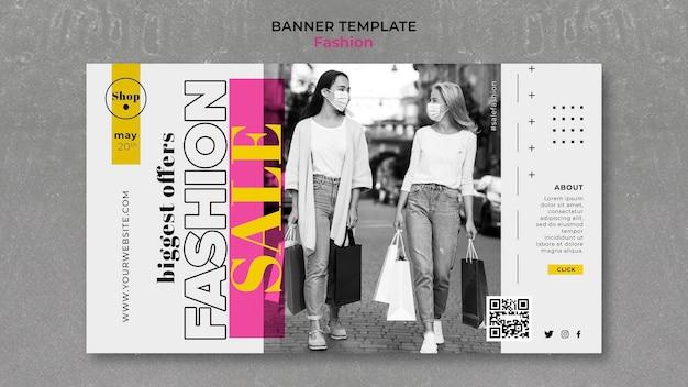 Mode verkauf banner vorlage