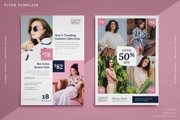 Mode-verkauf flyer vorlage