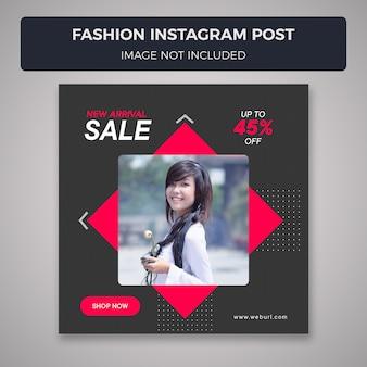 Mode verkauf instagram beitragsvorlage