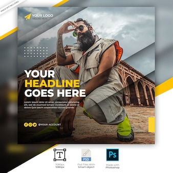 Mode verkauf quadrat social media ad banner vorlage