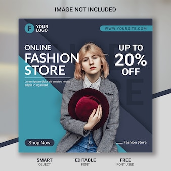 Mode verkauf social media beitragsvorlage