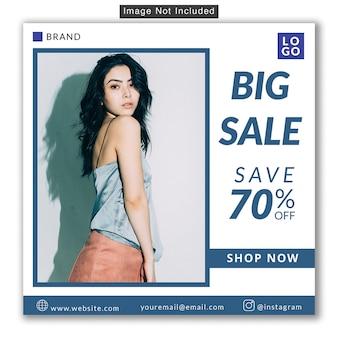 Mode verkauf social media instagram banner premium psd