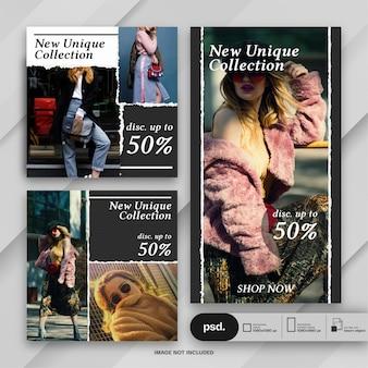 Mode-web-banner-social-media-vorlage