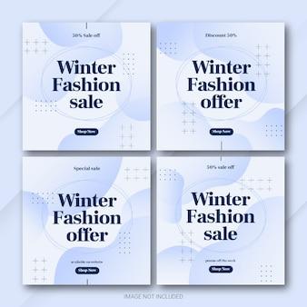 Mode winter sale instagram post bundle vorlage