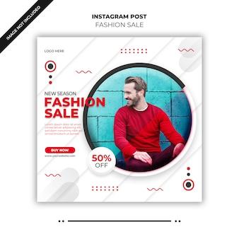 Modebanner oder quadratischer flyer für social-media-post
