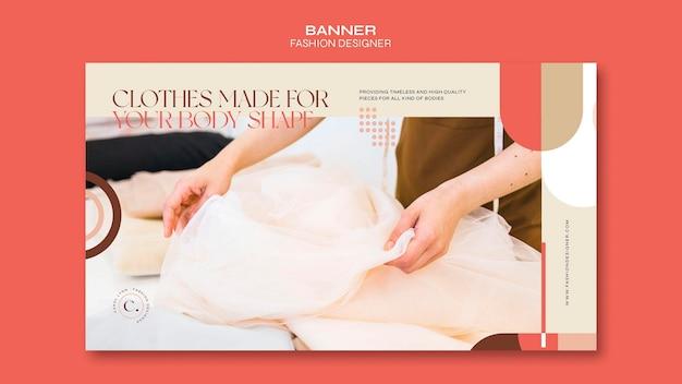 Modedesigner-konzeptfahnenschablone