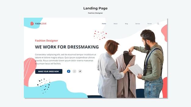 Modedesigner landing page