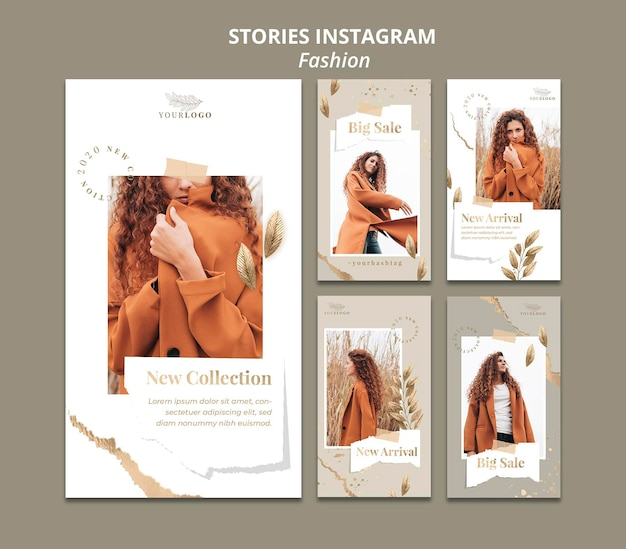 Modegeschäft instagram geschichten vorlage