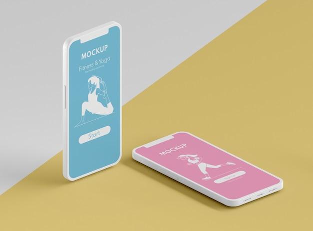 Modell der benutzeroberfläche der mobiltelefone