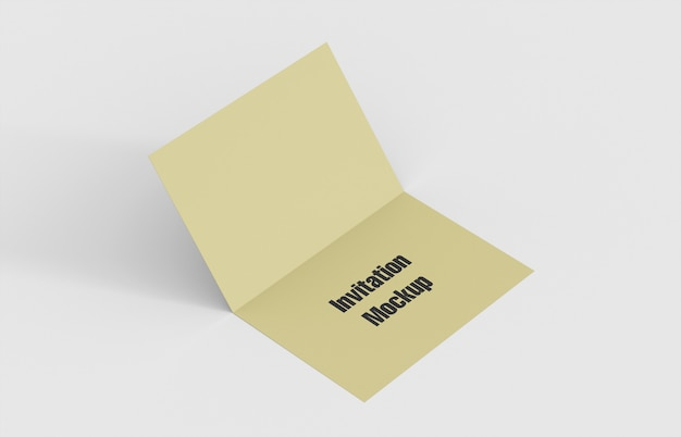 Modell der doppelten einladungskarte
