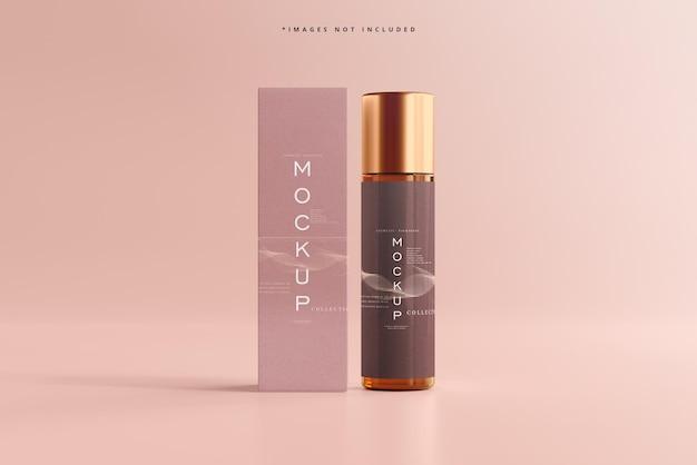 Modell der kosmetikflasche und -box auf dem display