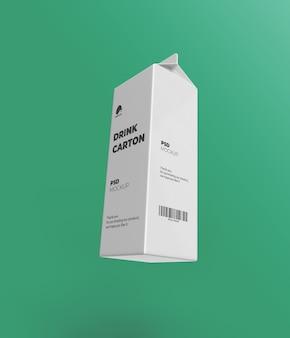 Modell der milchkartonverpackung