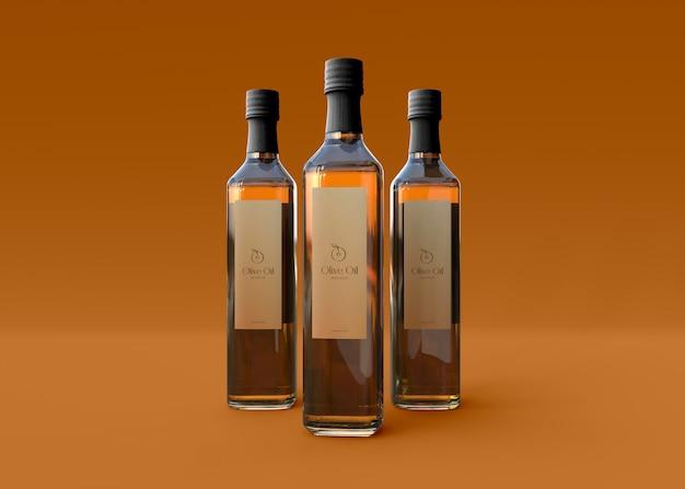 Modell der olivenölflasche