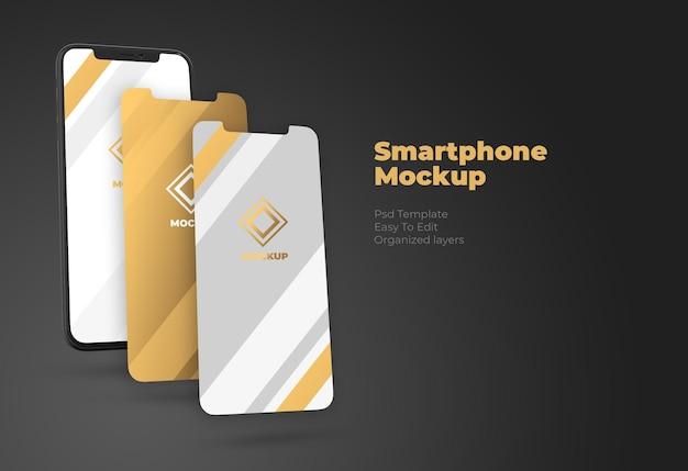 Modell der smartphone- und ui-bildschirmpräsentation