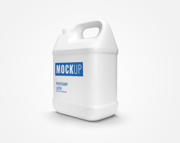 Modell der weißen gallonenflasche